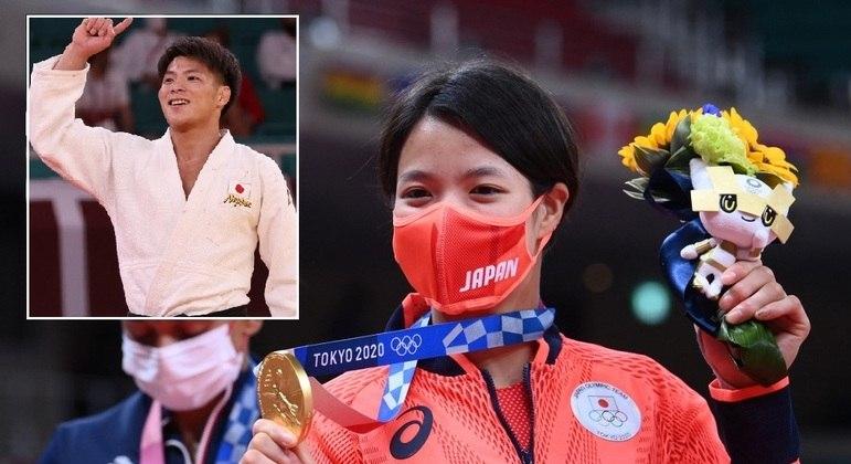 Irmãos Abe ganharam o ouro no judô no mesmo dia