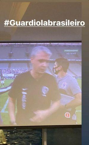 Jadson, que foi dispensado por Tiago, o ironiza após a derrota para o Palmeiras