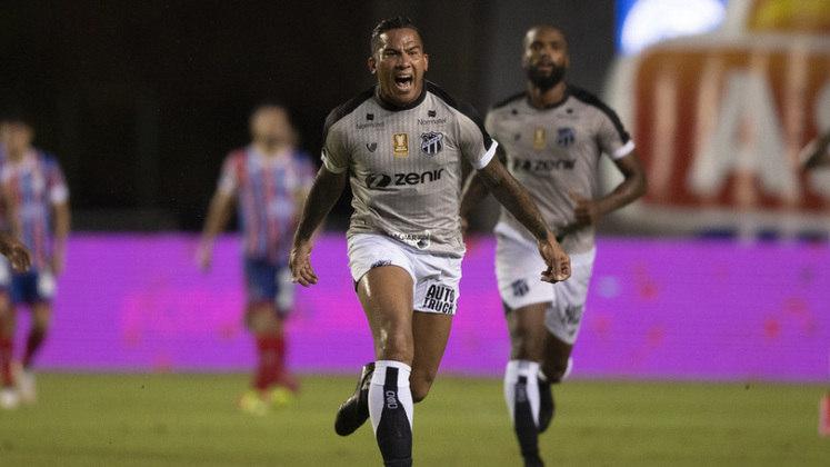 Jael - Clube: Ceará - Posição: Atacante - Idade: 32 anos - Jogos completados no Brasileirão 2021: 2 jogos - Situação no clube: Concorrência na posição e má fase