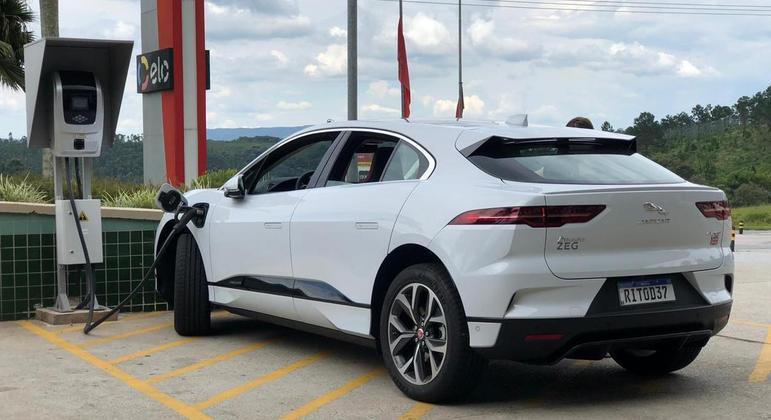 Carregamento do Jaguar I-Pace EV 400