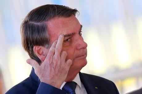 Jair Bolsonaro não falou com a imprensa