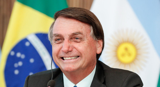 O presidente Jair Bolsonaro participa de videoconferência com Alberto Fernandez, presidente da Argentina