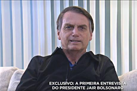 Bolsonaro falou com exclusividade à RecordTV