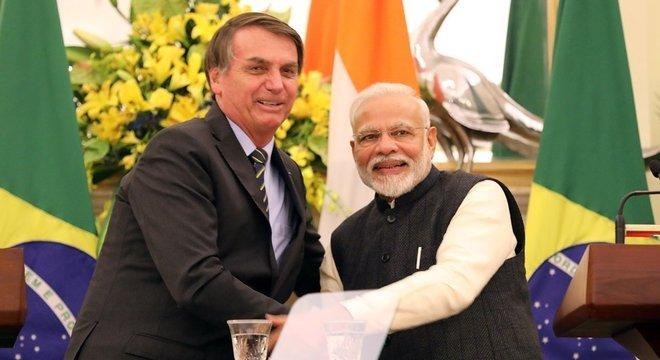 Dúvidas sobre vistos aos chineses foram colocadas durante viagem de Bolsonaro à Índia