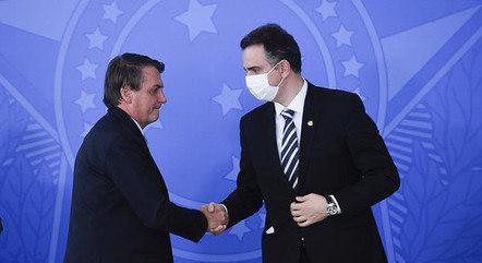 Na imagem, Jair Bolsonaro e Rodrigo Pacheco