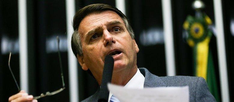 O presidente Jair Bolsonaro, que rebateu críticas ao decreto que libera posse de armas