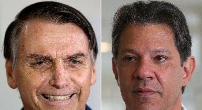 Bolsonaro e Haddad disputam os votos dos brasileiros no próximo dia 28 de outubro