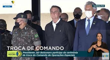 Presidente durante a troca do Comando de Operações Especiais