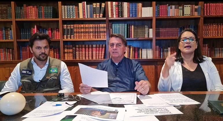Bolsonaro afirmou que pediu à PF para investigar o deputado Luís Miranda