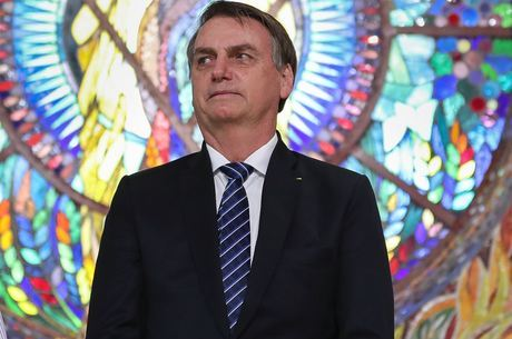 O presidente Bolsonaro, em evento no interior de SP