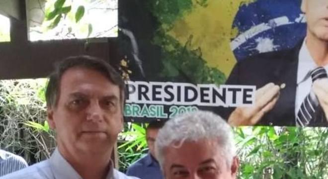 Jair Bolsonaro, presidente eleito do Brasil, e Marcos Pontes, apontado como ministro da Ciência e Tecnologia