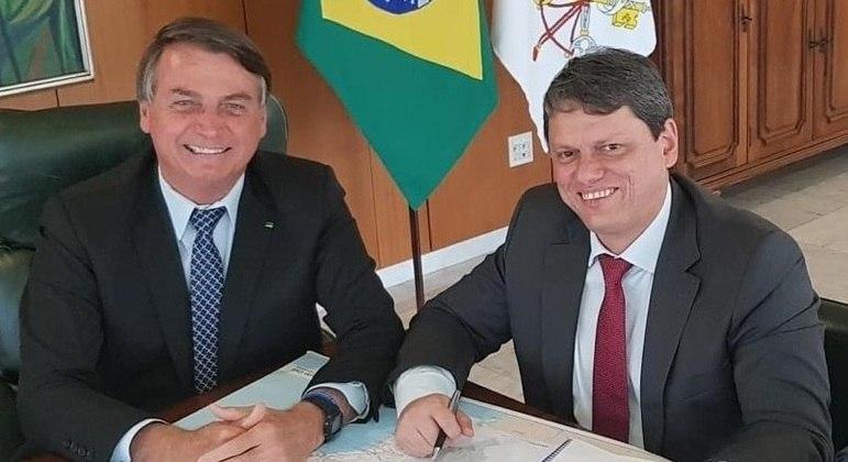 Bolsonaro é entusiasta da candidatura de Tarcísio Freire (Infraestrutura) ao governo de SP