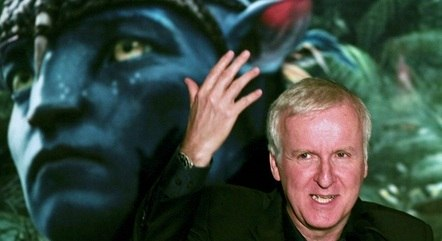 James Cameron durante lançamento de Avatar em SP