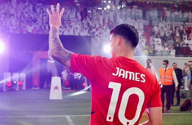 James Rodríguez (Colômbia) -  30 anos - Meia - Clube: Al Rayyan (Catar) - Valor de mercado: 28 milhões de euros (R$ 175 milhões).