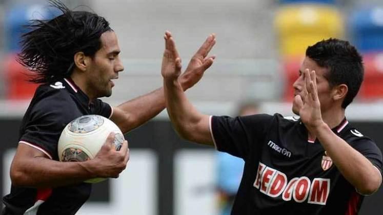 James Rodríguez e Falcao Garcia: jogaram juntos no Porto e no Mônaco.