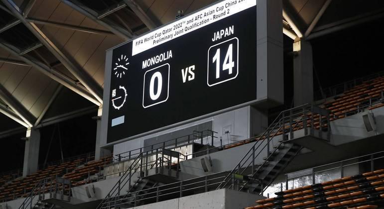 Japão goleou a Mongólia por 14 a 0, segunda maior vitória por goleada da história da seleção japonesa