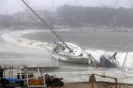 Tapah deixou um morto e 300 feridos na Coreia do Sul