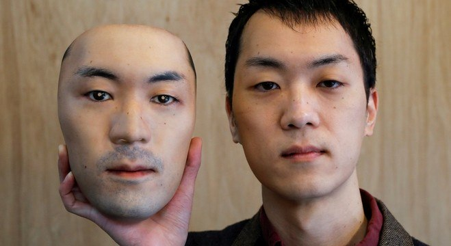 Shuhei Okawara criou máscaras hiper-reais, mas que não protegem contra covid-19
