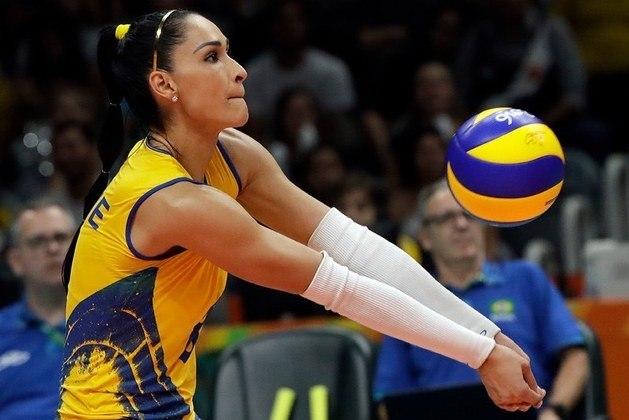 Jaqueline, da seleção brasileira feminina de vôlei, é bicampeão olímpica - 1.061.082 seguidores