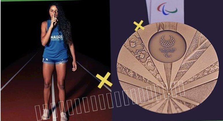 Jardenia e a sua medalha