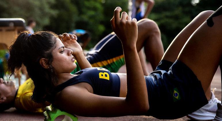 Jardênia Felix treina no Yoyogi Park em Tóquio para a Paralimpíada
