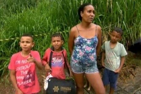 Maria Stela deixou casa com filhos, mas voltou ao local
