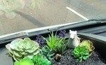 Eis que surge mais uma estranha moda no Instagram, que rapidamente é identificada e propagandeada: a cardinagem. Como o nome mostra, é uma forma de jardinagem dentro de um carro. Mais ou menos como a imagem acima mostra, com a criação de mini canteiros nos espaços do veículo, de preferência com vegetais que não cresçam muito