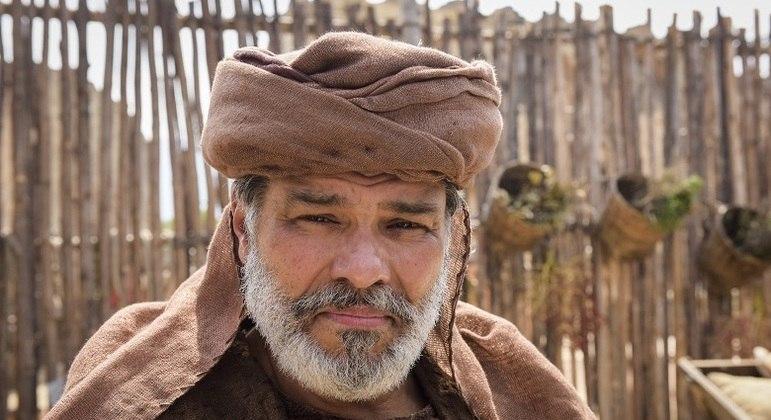 Maurício Mattar interpreta Jasper na novela Gênesis