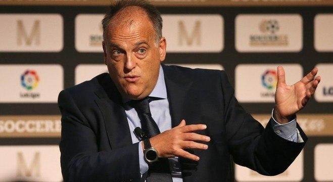 Presidente da  Liga Espanhola, Javier Tebas, exige a  volta do Espanhol