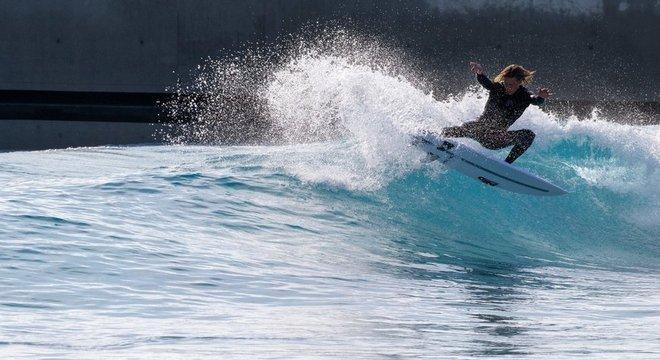 O plano é que o time do Reino Unido treine no local para a Olimpíada de Toquio — quando o surfe será um esporte olímpico