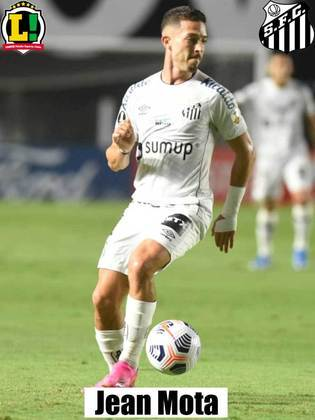 Jean Mota - 5,0 Muito discreto. Não conseguiu dar sequência nas jogadas do Santos após o time vencer a primeira linha de marcação.