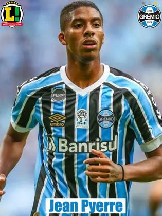Jean Pyerre - 6,0: Até melhorou a qualidade de passe, mas o Grêmio não deu seguimento as jogadas. Deveria ter começado como titular.