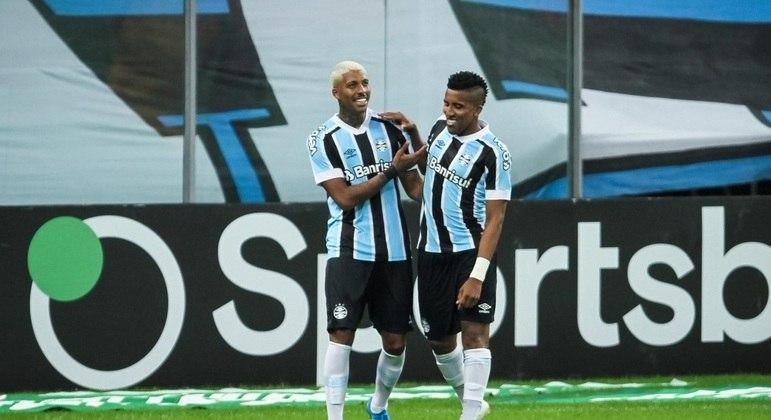 Jean Pyerre fez o segundo gol do Grêmio sobre o Brasiliense