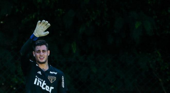 Goleiro Jean pouco atuou com a camisa do São Paulo em 2019