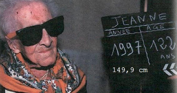 Recorde de longevidade pertence a francesa morta em 97, prova estudo