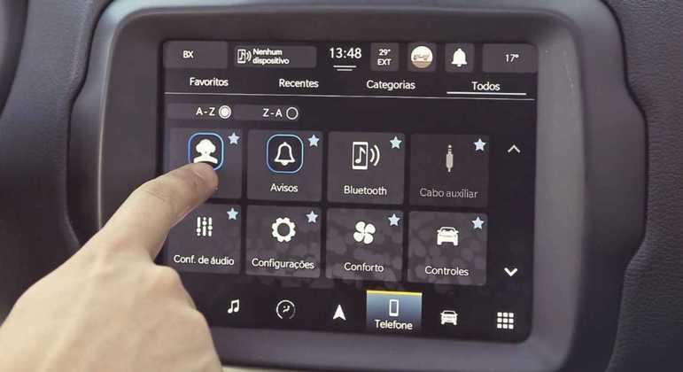 Entre as principais funções do Adventure Intelligence, o usuário poderá travar ou destravar as portas, verificar a pressão dos pneus, nível da bateria e combustível