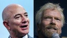 Os bilionários Bezos e Branson estão prontos para ir ao espaço
