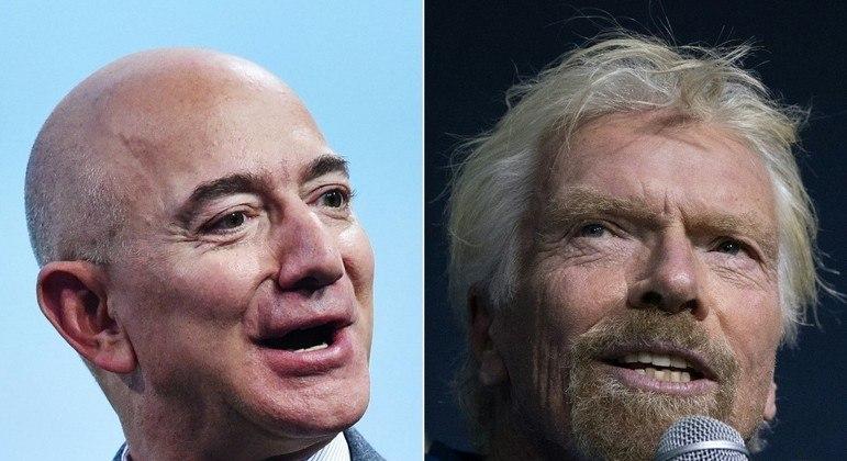 Os bilionários Bezos e Branson fazem a primeira corrida espacial não-governamental