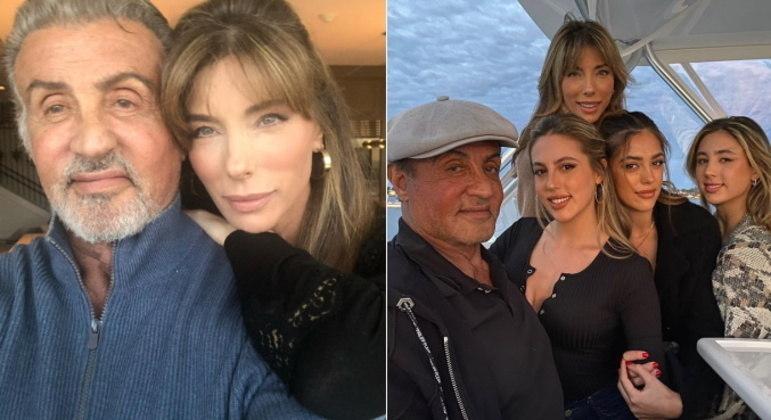 Mãe poderosaJennifer Flavin, mãe do trio e mulher de Stallone, também faz sucesso na web. Aos 52 anos, a modelo e atriz se derrete pelo marido nas redes sociais: