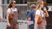 Atriz Jennifer Lawrence exibe pela primeira vez a barriga de grávida