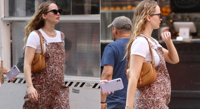 Jennifer foi flagrada nas ruas de Nova York pela 1ª vez após anúncio de gravidez
