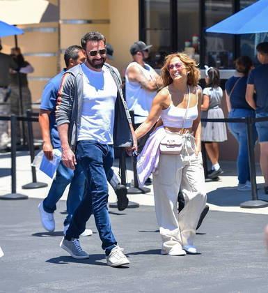 Recentemente, eles também curtiram um momento em família no parque de diversões Universal Studios Hollywood