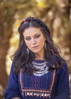 Jéssica caracterizada como Michal