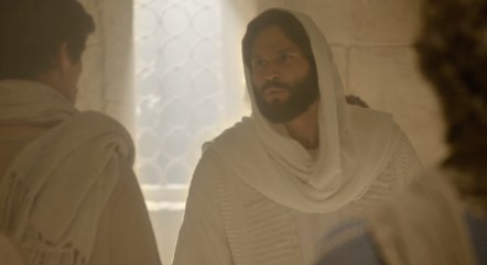 Apóstolos se surpreendem com a presença de Jesus