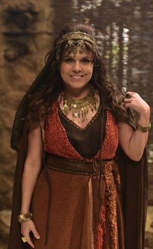 Marcella caracterizada como Judite