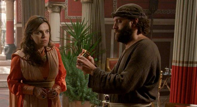 Gestas diz saber do assassinato da esposa de Davi e chama Judite para fugir