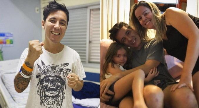 Jhean Marcell recebeu alta de hospital e voltou para casa com a família