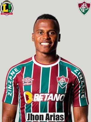 Jhon Arias - 6,5 - Bastante ativo pela ponta, o jogador fez uma boa partida e participou ativamente, sendo uma boa opção ofensiva. Com velocidade, mostrou que será bastante útil para a equipe nesta fase de recuperação no Brasileirão.