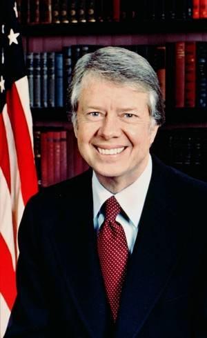 Jimmy Carter, eleito em 1977