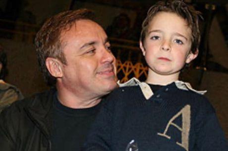 Gugu Liberato com o filho mais velho, João Augusto